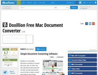 doxillion-free-mac-document-converter.en.softonic.com screenshot