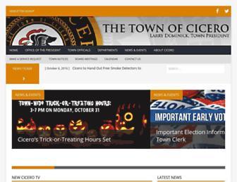 thetownofcicero.com screenshot