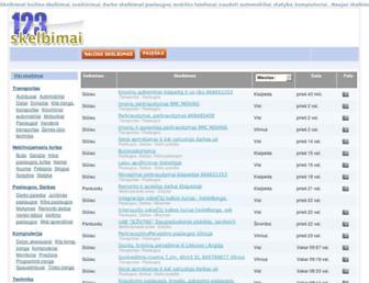 Main page screenshot of 123skelbimai.lt
