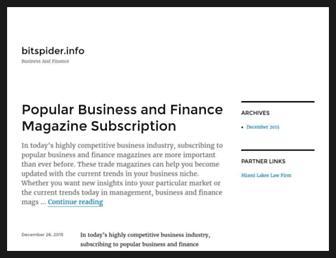 bitspider.info screenshot