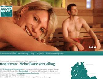 Main page screenshot of monte-mare.de