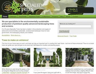 specialitytrees.com.au screenshot