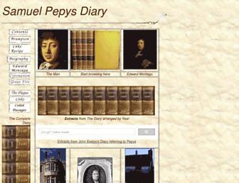 Main page screenshot of pepys.info