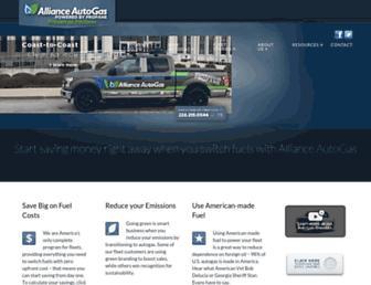 allianceautogas.com screenshot