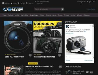 dpreview.com screenshot
