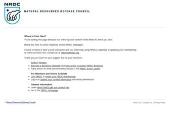 Main page screenshot of nrdconline.org
