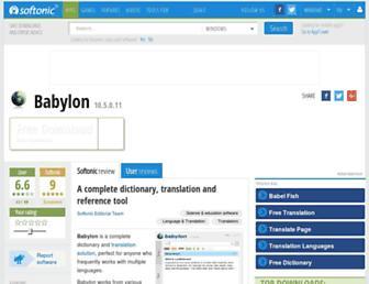 babylon.en.softonic.com screenshot