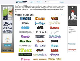 Thumbshot of Cooltext.com