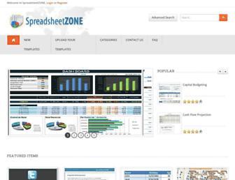 spreadsheetzone.com screenshot
