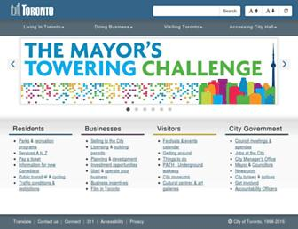 Main page screenshot of wx.toronto.ca
