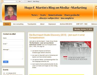 Main page screenshot of blog.hemartin.net