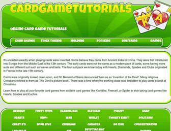 cardgametutorials.com screenshot