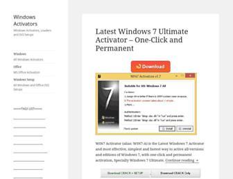 windowsactivators.com screenshot