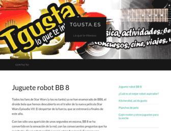 Main page screenshot of tgusta.es