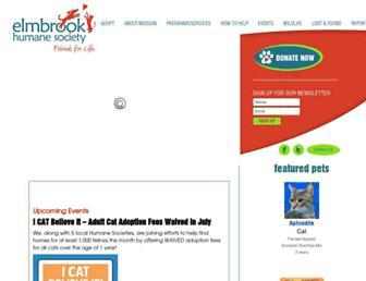 Main page screenshot of ebhs.org