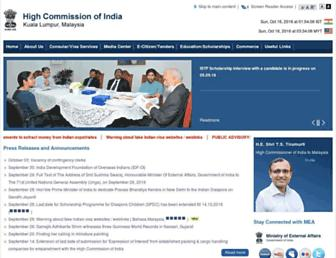 Thumbshot of Indianhighcommission.com.my
