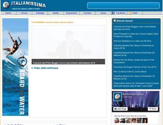 Main page screenshot of italianissima.net
