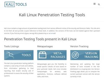 tools.kali.org screenshot