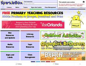 Main page screenshot of sparklebox.co.uk