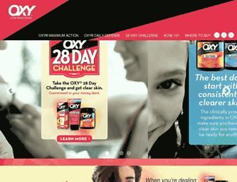 oxyskincare.com screenshot