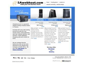 sawebhost.com screenshot