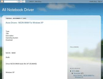 allnotebookdriver.blogspot.com screenshot