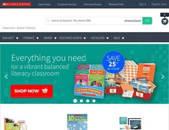 shop.scholastic.com screenshot