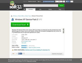 windows-xp-service-pack-2.soft32.com screenshot