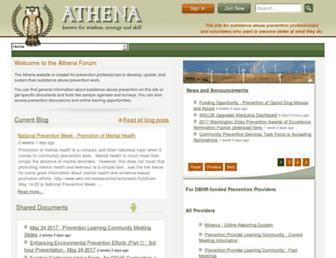theathenaforum.org screenshot