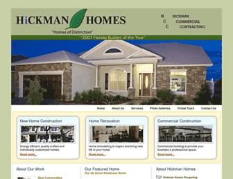 Main page screenshot of hickmanhomes.net