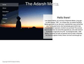 theadarshmehta.in screenshot