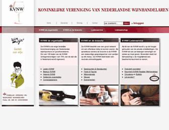 Main page screenshot of kvnw.nl