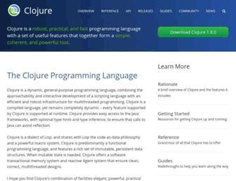 Thumbshot of Clojure.org