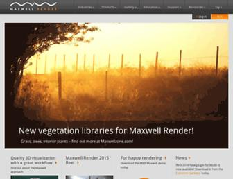 maxwellrender.com screenshot