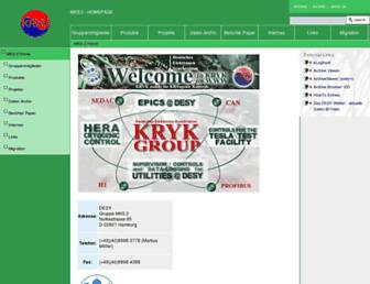 www-mks2.desy.de screenshot