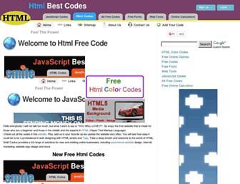 htmlfreecodes.com screenshot
