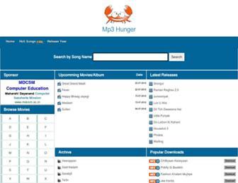 mp3hunger.com screenshot