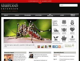 extension.umd.edu screenshot