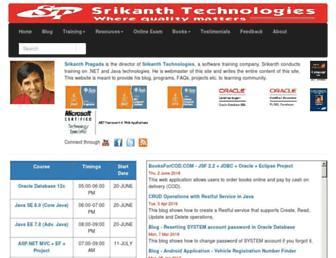 srikanthtechnologies.com screenshot