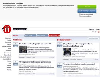 Main page screenshot of nujij.nl