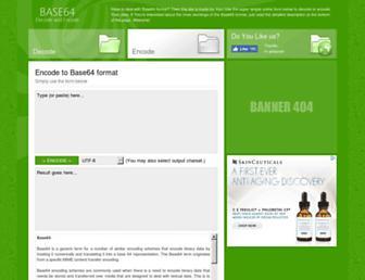 Thumbshot of Base64encode.org