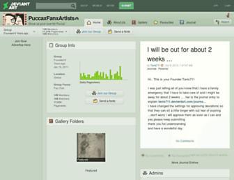 puccaxfanxartists.deviantart.com screenshot
