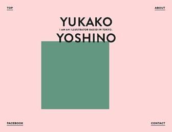 yukakoyoshino.com screenshot