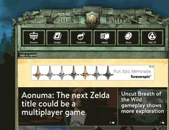 Main page screenshot of zeldauniverse.net