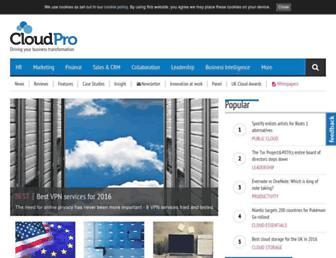 cloudpro.co.uk screenshot