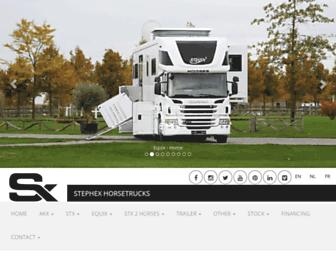 stephexhorsetrucks.com screenshot