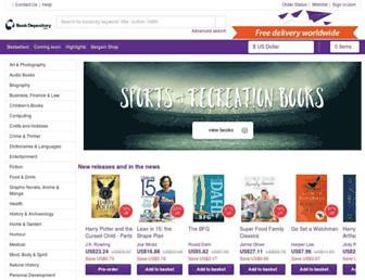 Main page screenshot of bookdepository.co.uk