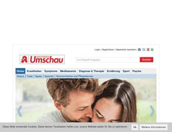 Main page screenshot of apotheken-umschau.de