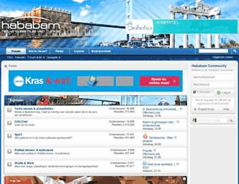 Main page screenshot of forums.hababam.nl