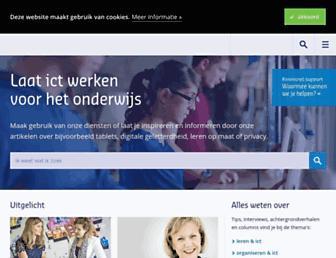 Main page screenshot of thema.kennisnet.nl